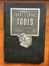 1951 Warner & Swasey Turret Lathe Tools Manual 38B