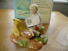 Royal Doulton Winnie The Pooh Christopher Reads to Pooh WP32, Cert of Auth & Bxd