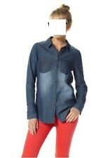 "Bluse, Jeansbluse, Jeanshemd ""6568-50, Ichi, Gr.M, 100% Baumwolle"