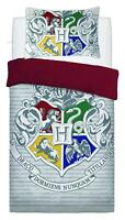 New Official Harry Potter Single Duvet Quilt Cover White Bedding Set Kids Boys
