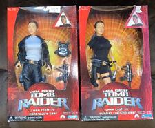 "Tomb Raider Lara Croft in Motorcycle Gear & Combat Gear 12"" Figure Playmates"