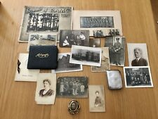 More details for original ww1 memorabilia including silver cigarette case