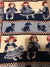 Fieldcrest Blanket Decorative Throw Doll, Puppies, Kitties Red White Blue Cotton