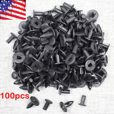 100pcs New 8mm Black Hole Plastic Rivets Fastener Push Clips for Car Auto Fender