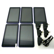 "LOT OF 5 - Android 8.1 Quad Core 7"" Touch Screen Tablet Blue - For Parts Repair"