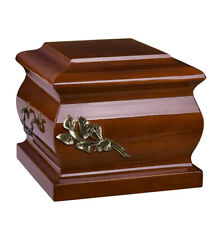 Solid Wood Casket Funeral Ashes Urn for Adult Unique Italian Urn Wu63