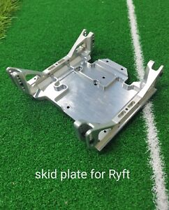 VITAVON CNC Alu 7075 skid plate for Axial RBX10 Ryft 4WD Bouncer 1/10 silver