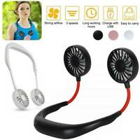 Mini Portable Rechargeable Neckband Hanging Neck Fan Cooling Style (no battery
