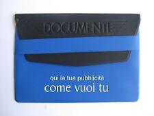 50 portadocumenti auto personalizzati stampati blu/nero