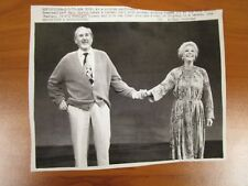 Vintage AP Wire Press Photo Actors Mary Martin & Anthony Quayle, Somersaults  #2