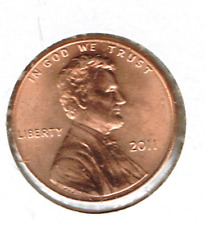 2011 Philadelphia Brilliant Uncirculated Lincoln Shield One Cent Coin!