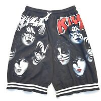Kiss Black Graphic Print Shorts One Size Fits Most OSFM