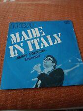 Disco in vinile 45giri  JIMMY FONTANA MADE IN ITALY IL MONDO RARO!