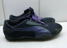 Puma Black Purple Mesh Hook Loop Elastic Athletic Sneaker Women's Shoe 9.5M 40,5