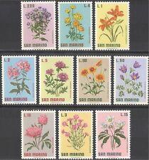 San Marino 1971 Flowers/Plants/Nature/Lily/Rose/Peony/Aster 10v set (n43843)