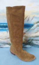 BRONX Pull Up Cowboy BOOTS Womens 38 / 7.5 Brown Suede Western