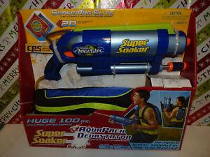 Super Soaker Aquapack Devastator 100oz.STILL NEW FROM 2004 FREE SHIPPING !!