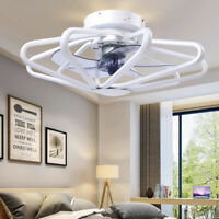 "23"" 5 Blades Ceiling Fan Light LED Folding Fan Lamp + Remote Control 3 speed"