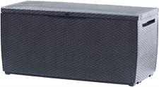Caja de almacenamiento exterior Keter Capri, 5 Litros, Gris, 123x53.5x57 Cm
