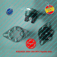 Termostato (1Pz) KSD302X 250V 20A  90ºC NC, bipolar, Manual Reset Thermo