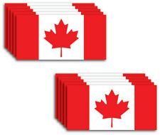 New listing 10 Pack of New Small Canada Flag Vinyl Decal Country Sticker Car Truck Canadian