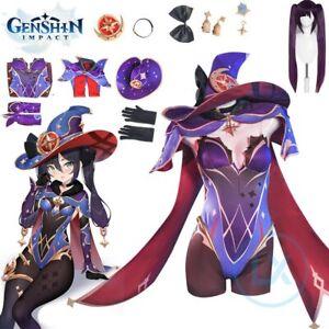 Game Genshin Impact Mona Cosplay Costume Halloween Women Sexy Dress Uniform