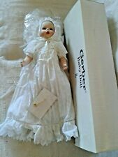 "1999 Danbury Mint 18"" Porcelain Gerber Baby Doll in Christening Gown W Box Charm"