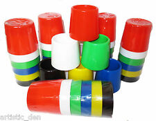 SET 6 LARGE NON SPILL WATER PAINTING POTS Arts Crafts Kids Paint Pots