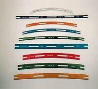 Tracksetta OO/HO Various Track Templates, Straights & Curves & Full Set