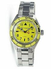 Vostok Komandirskie 650859 Watch Yellow Automatic Russian Wrist New