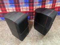 PAIR OF 2 BOSE CLASSIC REDLINE Double Cube Speakers Lifestyle Acoustimass