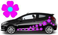 32 Flor Rosa y azul cielo coche calcomanías, pegatinas, pegatinas de gráficos de coche, Daisy