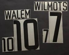 KIT NOME+NUMERO BELGIO UFFICIALE HOME FIFA WORLD CUP 2002 OFFICIAL NAMESET