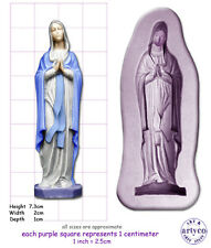 Virgen María medio artesanal sculpey Goma de Silicona Molde Molde Sugarcraft