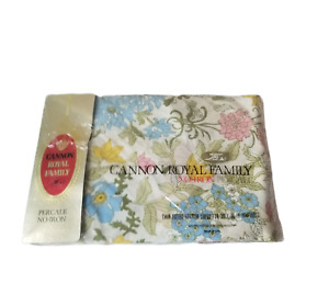 Vintage Twin Flat Sheet Floral Cannon Royal Family Percale No Iron New