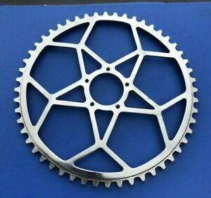 NEW OLD STOCK VINTAGE WILLIAMS 52T CHAINRING,5 PIN,CHROMED STEEL,DATED 1935
