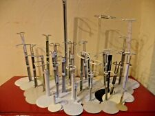 """METAL  DOLL STANDS  -  VARIOUS SIZES   2""""  -  18""""    30 PIECES"""