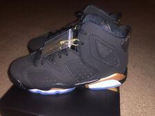 Brand New Jordan Retro 6 Dmp Big Kids Shoes Size 5Y Black/Gold 100% Authentic