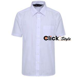 Boys Children Kids School Uniform Shirt Short Sleeve White Colour