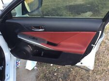 2014 2015 LEXUS IS250 FRONT DOOR PANEL TRIM OEM RIGHT SIDE IS350 RED