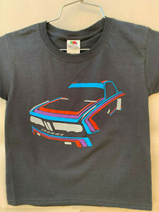 KIDS / YOUTH BMW 3.0 CSL RACING T-SHIRT E9 MARTINI ROSSI COLORS TOURING ALPINA