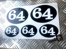 CAFE RACER 64 Rétro Autocollants, Scooter, RACER, Rocker decals