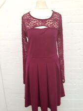 Womens Skater Dress With Lace Sleeves ~ Size 12 ~ Amazing Condition