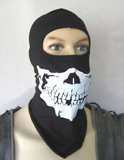 Fighter Sturmhaube mit Scull Skull Gesicht Motiv  Kopfhaube Skelett Face Jethelm
