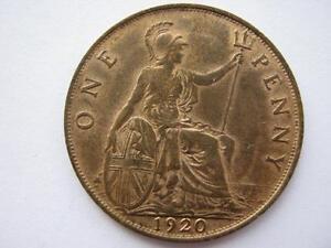 1920 Penny, EF, good lustre.