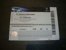 Sammler Eintrittskarte 12/13 FC Bayern München - Valencia Spain  Ticket EC