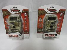 TWO pack Wildgame Innovations Cloak 8 Lightsout Black Flash 8MP k8b14di