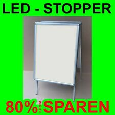 Kundenstopper 2-seitig LED-Premium beleuchtet DIN A 1 =841x594 mm für Plakat Dia