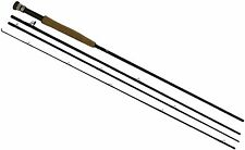 Fly Rod Fishing Pole 9 Ft Outdoor Activities 4 Piece Snake Guide Cork Handle New