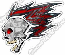 "Flaming Skull Biker Bike Motorcycle Gothic Car Bumper Vinyl Sticker Decal 4.6"""